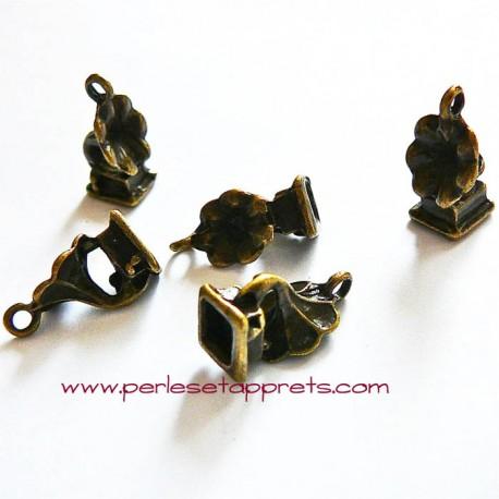 Breloque gramophone en laiton 18mm pour bijoux, perles et apprêts