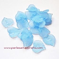 Feuille acrylique bleue 14mm pour bijoux, perles et apprêts