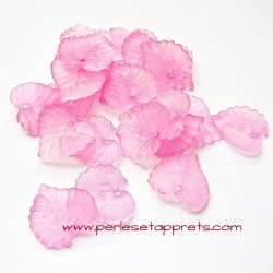 Feuille acrylique rose 14mm pour bijoux, perles et apprêts