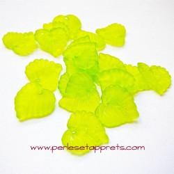 Feuille acrylique verte 14mm pour bijoux, perles et apprêts