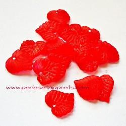 Feuille acrylique rouge 14mm pour bijoux, perles et apprêts