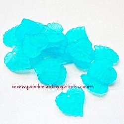 Feuille acrylique turquoise 14mm pour bijoux, perles et apprêts