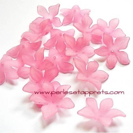 Fleur acrylique rose 30mm