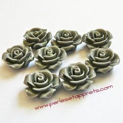 Cabochon résine rose grise 15mm pour bijoux, perles et apprêts