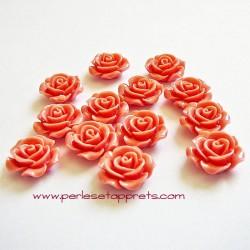 Cabochon résine rose vieux rose 15mm