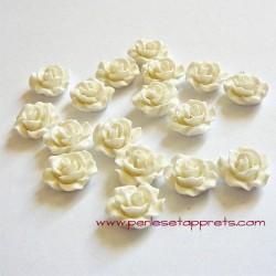 Cabochon résine rose ivoire 10mm pour bijoux, perles et apprêts