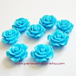 Cabochon résine rose bleue 15mm