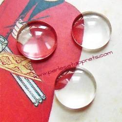 Cabochon rond en verre 14mm pour bijoux, perles et apprêts