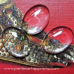 Cabochon ovale en verre 18mm pour bijoux, perles et apprêts