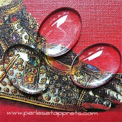 Cabochon ovale en verre 25mm pour bijoux, perles et apprêts