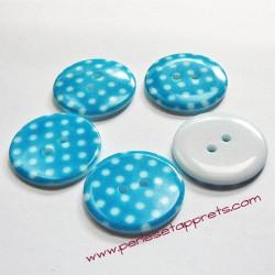 Bouton rond en résine bleu 23mm, pour la couture, bijoux, perles et apprêts