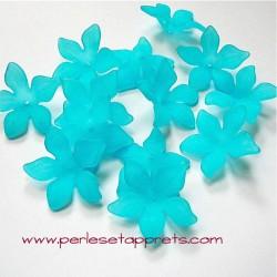 Fleur acrylique turquoise 30mm
