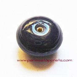 Perle ronde en verre violet 17mm