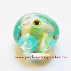 Perle ronde en verre transparent blanc 18mm