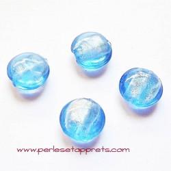 Perle ronde en verre bleu 16mm