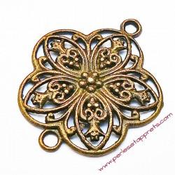 Estampe ronde en filigrane, connecteur en métal bronze laiton 3cm pour bijoux perles et apprêts