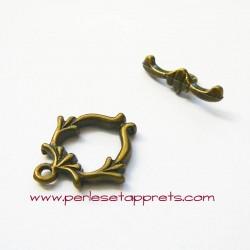 Fermoir toggle 20mm bronze laiton pour bijoux, perles et apprêts