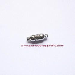 Fermoir aimanté magnétique 18mm argent rhodium pour bijoux, perles et apprêts