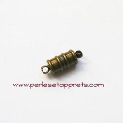 Fermoir aimanté magnétique 15mm bronze laiton pour bijoux, perles et apprêts