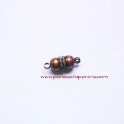 Fermoir aimanté magnétique 15mm bronze cuivre pour bijoux, perles et apprêts