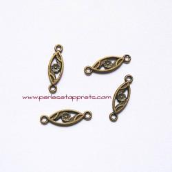 Lot 8 connecteurs 22mm bronze laiton pour bijoux, perles et apprêts