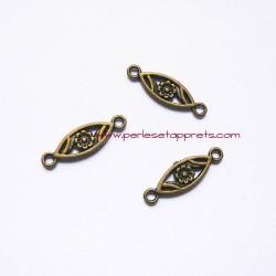 Lot 10 connecteurs 23mm bronze laiton pour bijoux, perles et apprêts