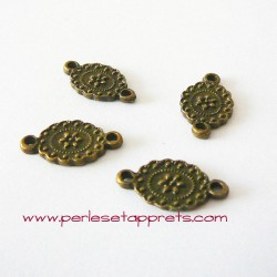 Lot 10 connecteurs 18mm bronze laiton pour bijoux, perles et apprêts