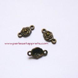 Connecteur fleur 18mm bronze laiton pour bijoux, perles et apprêts
