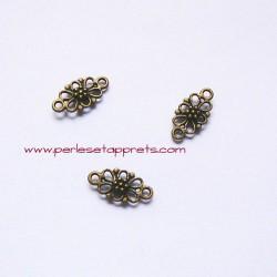 Connecteur 15mm bronze laiton pour bijoux, perles et apprêts