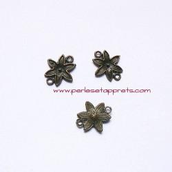 Connecteur fleur 19mm bronze laiton pour bijoux, perles et apprêts
