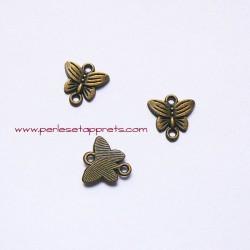Connecteur papillon 14mm bronze laiton pour bijoux, perles et apprêts