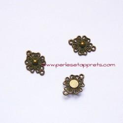 Connecteur 20mm bronze laiton pour bijoux, perles et apprêts