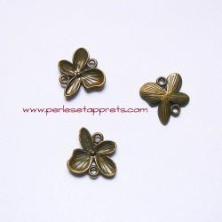 Connecteur papillon 20mm bronze laiton pour bijoux, perles et apprêts