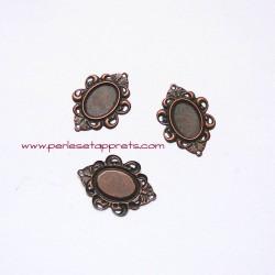 Connecteur 28mm cuivre bronze, pour bijoux, cabochons, perles et apprêts