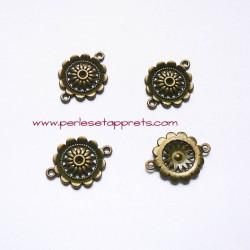 Connecteur rond 22mm bronze laiton pour bijoux, perles et apprêts