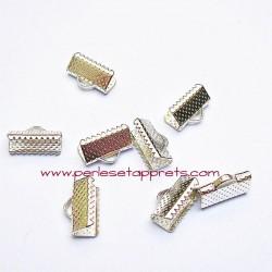 Lot 30 embouts griffe argent 16mm, pour cordon, ruban, bijoux, perles et apprêts