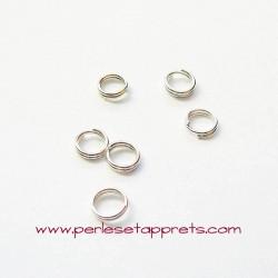 Lot 20 double anneaux 5mm de jonction argent pour bijoux, perles et apprêts