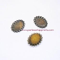 Pendentif connecteur ovale 22mm bronze laiton pour bijoux, à décorer, perles et apprêts