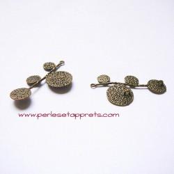 Pendentif branche 40mm bronze