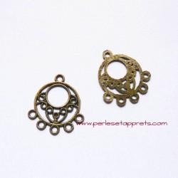 Pendentif rond 25mm bronze laiton pour bijoux, à décorer, perles et apprêts