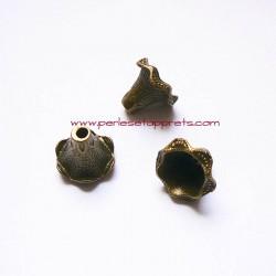 Pendentif caps cône 20mm bronze laiton pour bijoux, perles et apprêts