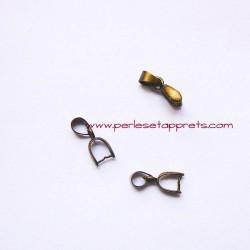 Lot 5 bélières 6mm métal bronze