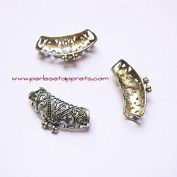 Bélière ciselée 35mm argent, pour bijoux, perles et apprêts