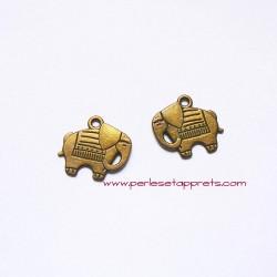 Breloque éléphant 20mm bronze laiton pour bijoux, perles et apprêts