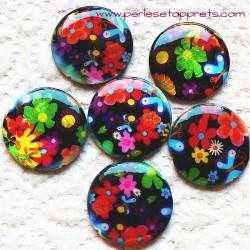 Perle de nacre noir multicouleur 25mm pour bijoux, perles et apprêts