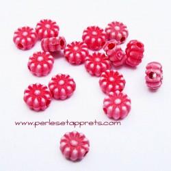 Perle synthétique fleur rouge 6mm