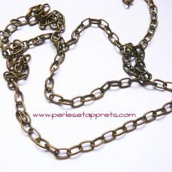 Chaîne maille forçat 7mm bronze laiton, pour bijoux, perles et apprêts