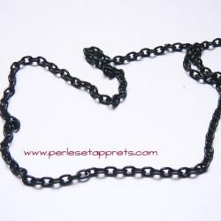 Chaîne maille forçat 5mm noir pour bijoux, perles et apprêts
