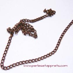 Chaîne maille gourmette 4mm cuivre bronze, pour bijoux, perles et apprêts