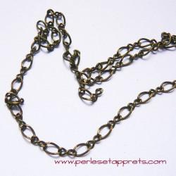 Chaîne mélangée 5mm bronze laiton, pour bijoux, perles et apprêts